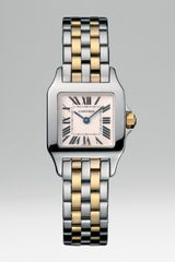 Cartier Santos Demoiselle Stainless Steel Watch On Stainless Steel & 18k Yellow Gold Bracelet, Small in Silver - Lyst