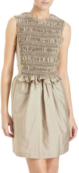 Chloé Ruffle Front Dress - Lyst