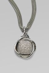 David Yurman Pavé Diamond Sterling Silver Infinity Enhancer - Lyst