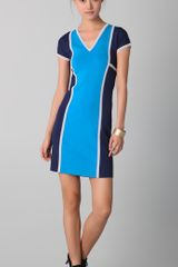 Derek Lam V Neck Scuba Dress - Lyst