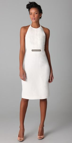 Derek Lam Halter Dress with Metal Buckle - Lyst