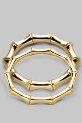 Gucci 18k Yellow Gold Large Bamboo Bracelet - Lyst