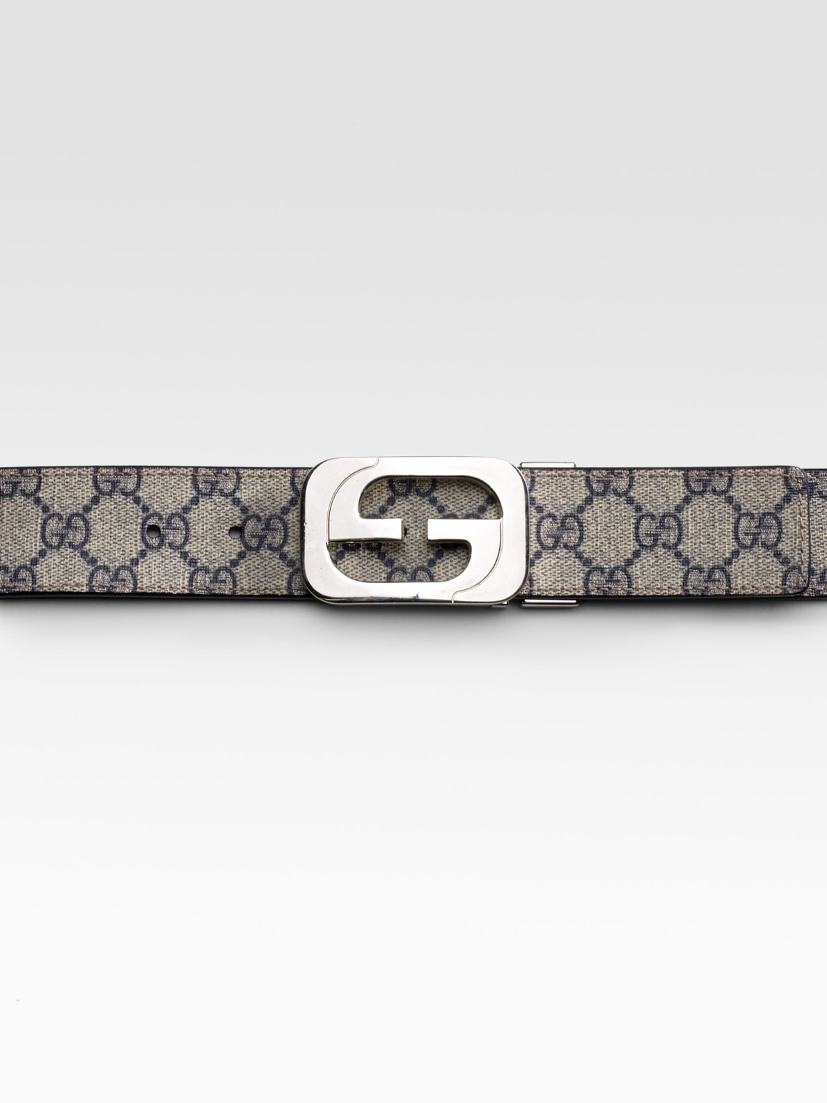 684310eed12 Lyst - Gucci Reversible Belt in Natural for Men