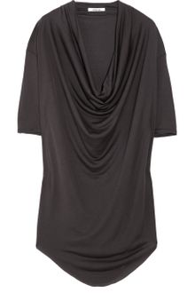 Helmut Lang Cowl-neck Silk Top - Lyst