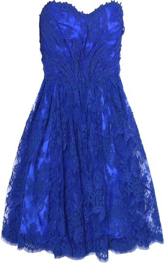 Issa Lace Strapless Dress - Lyst