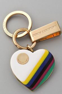 Juicy Couture Resin Heart Key Ring - Lyst