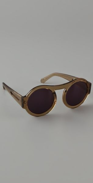 Karen Walker Bunny Sunglasses in Brown - Lyst