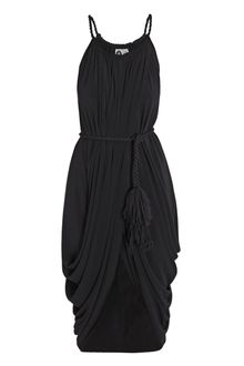 Lanvin Techno Jersey Drape Dress - Lyst