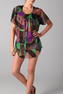 M Missoni Geometric Print Cover Up - Lyst