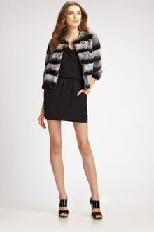 Michael Kors Rabbit Jacket - Lyst