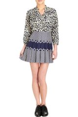 Sea Pleated Polka Dot Skirt - Lyst