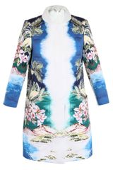 Stella McCartney Maxime Hawaiian Print Coat - Lyst
