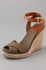 Tory Burch Crisscross Wedge Espadrilles - Lyst