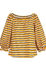 Yves Saint Laurent Rope-print Volume Top - Lyst