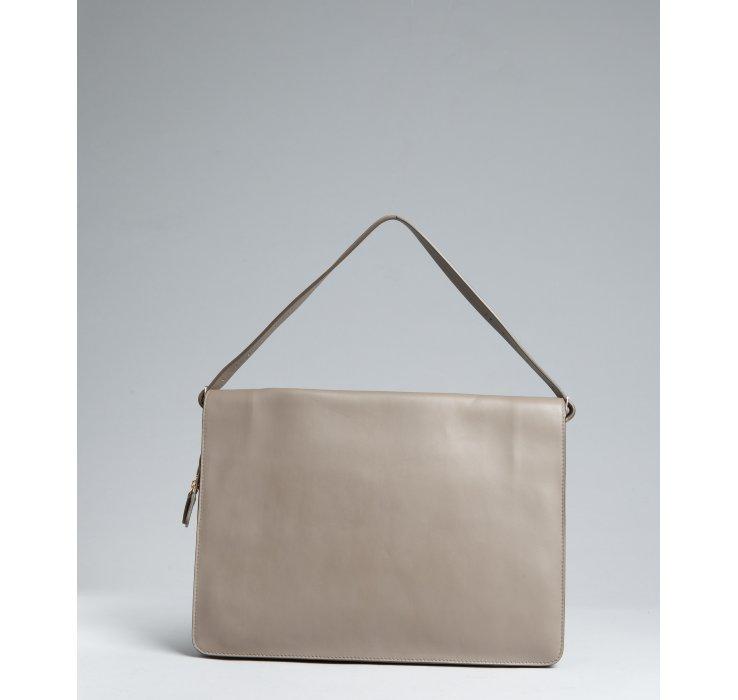 C¨¦line Smoke Grey Calfskin Large Portfolio Shoulder Bag in Gray ...