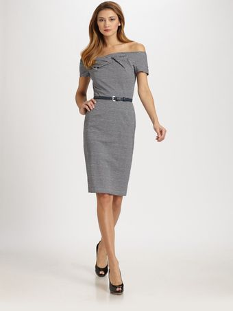 Dior Belted Cotton Dress - Lyst