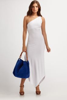 Ralph Lauren Blue Label Jade One-shoulder Dress - Lyst