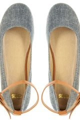 Asos Collection Asos Verity Mary Jane Flatform in Blue (denim) - Lyst