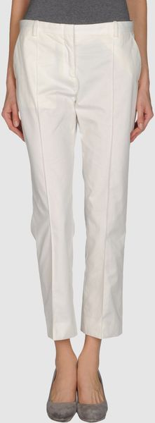 Celine Casual Pants in White - Lyst