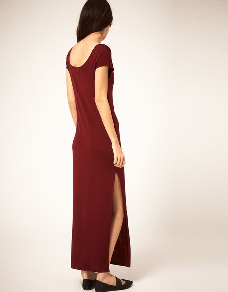 Cheap monday cranberry cheap monday maxi dress with side split product