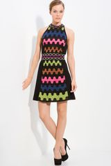 M Missoni Puzzle Stripe Knit Dress - Lyst