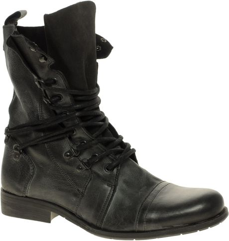 River Island Multi Eyelet Military Boots