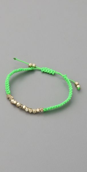 Shashi Neon Nugget Bracelet in Green