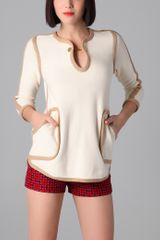Tory Burch Flor Sweater Tunic - Lyst