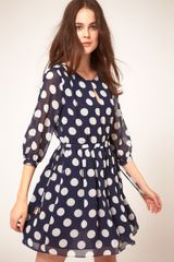 Whistles  Big Spot Print Dress in Blue (bluemulti) - Lyst