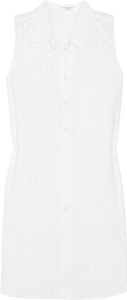 Equipment Adrien Eyelet Cotton Dress in White - Lyst