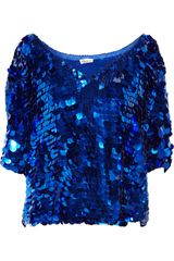 Foley + Corinna Paillette-embellished Chiffon Top - Lyst