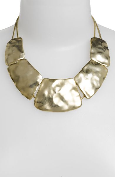 Nordstrom Gold Water 5plate Statement Necklace in Gold (worn gold)