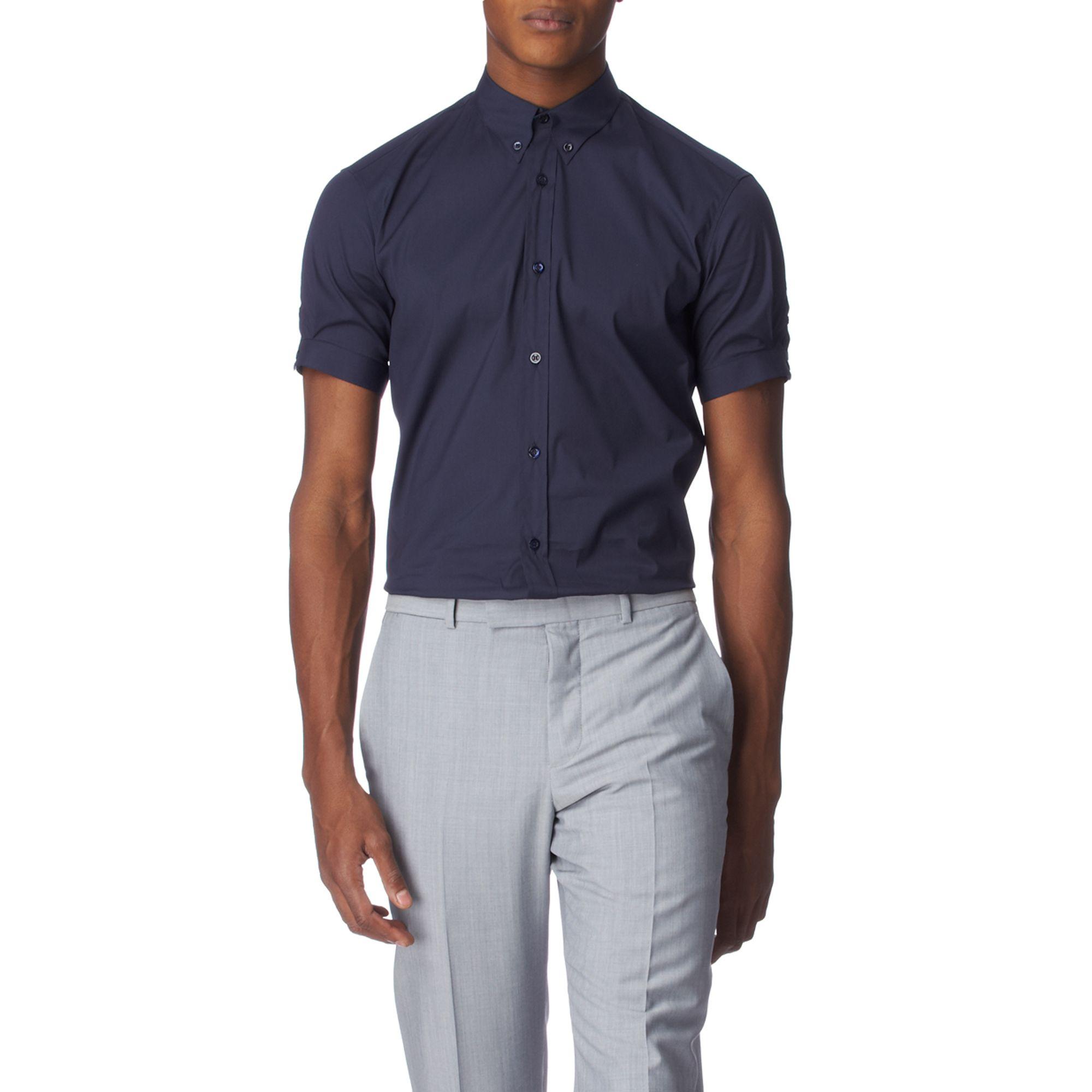 alexander mcqueen brad pitt slim fit stretchcotton shirt
