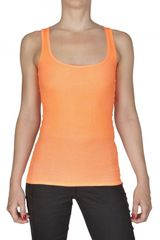 American Apparel Ribbed Jersey Tank Top - Lyst