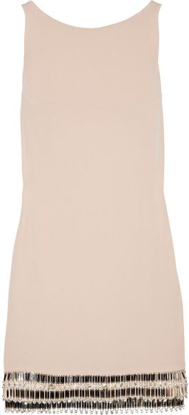 Azzaro Leeloo Embellished Open-back Crepe Mini Dress - Lyst