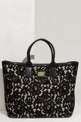 Dolce & Gabbana Miss Alma Lace Lambskin Leather Tote - Lyst