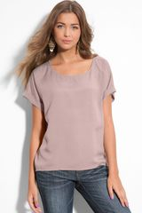 Frenchi® Cuffed Short Sleeve Boxy Top - Lyst