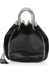 Meredith Wendell Leather Bucket Tote - Lyst