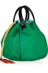 Meredith Wendell Colorblocked Canvas Bucket Tote in Green - Lyst