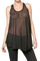 Pierre Balmain Sheer Silk Chiffon Tank Top - Lyst