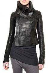 Rick Owens Crocodile Leather Jacket - Lyst