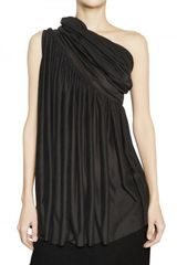 Rick Owens Washed Silk Jersey Dress - Lyst