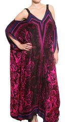 Roberto Cavalli Rose Print Chiffon Long Dress - Lyst