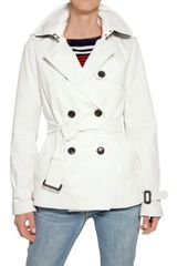 Tommy Hilfiger Double Breasted Gabardine Short Trench C - Lyst