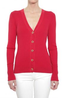 Tory Burch Ribbed Cotton Stretch Knit Sweater - Lyst
