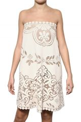 Valentino Lace Bobinè Flandre Cotton Dress - Lyst