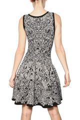 Alexander Mcqueen Viscose Silk Jacquard Knit Dress in Gray (black) - Lyst