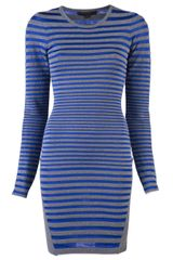 Alexander Wang Engineered Striped Dress - Lyst