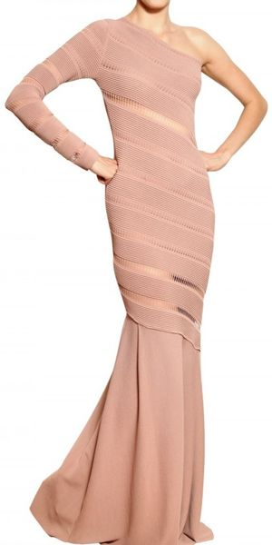 Antonio Berardi Ajour On Milano Stitch Dress in Pink - Lyst