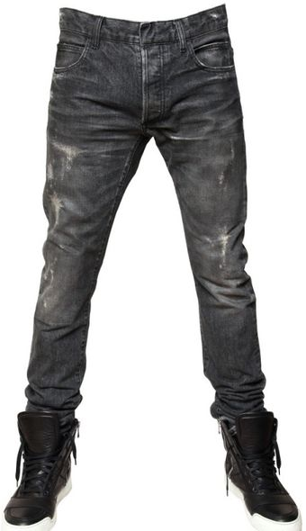 Balmain 17cm Distressed Denim Jeans - Lyst